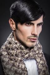 Handsome male beauty portrait