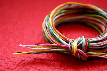 日本の色紙紐
