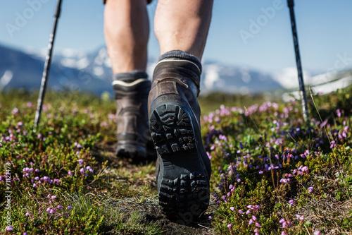 Hiking on a swedish trail - 71121473
