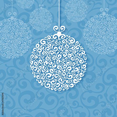 Naklejka Christmas background