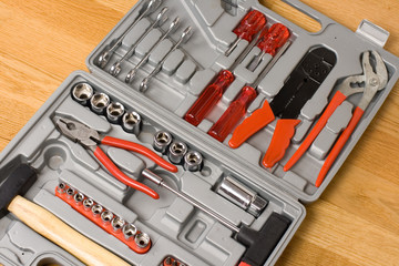 Toolbox with different instruments