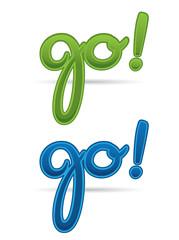 Modern GO! design letters