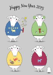 Christmas sheeps