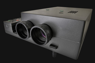 Projector multimedia with two lenses