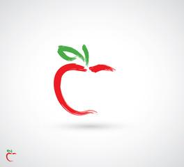 Painted apple symbol