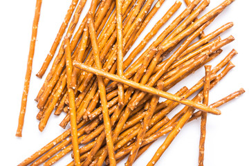 Salty Snack Sticks Isolated On White