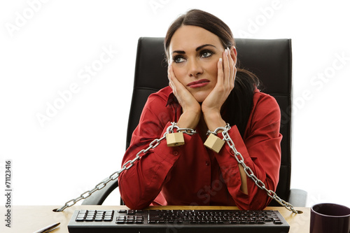 chained to work - 71123416