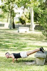 Fitness man exercising Push-ups