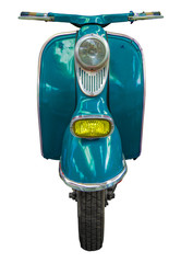 Isolated Blue Vintage Scooter