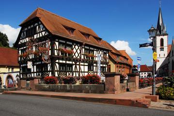 Sterne-Küche in historischem Fachwerkhaus