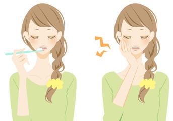 歯を磨く女性 不安