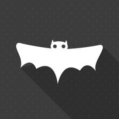 Minimal Halloween background. Bat. Flat design