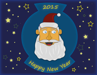 Santa Claus wishes a happy new year 2015