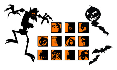 Scary Halloween Icons