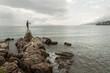 Statue et frond de mer - promenade de Opatija