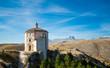 Rocca Calascio, chiesa santa maria della pietà e monti