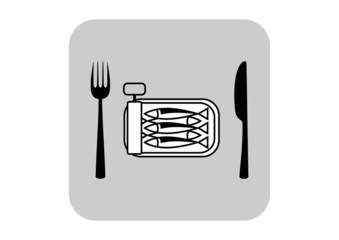 Sardines vector icon