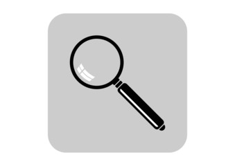 Magnifier vector icon