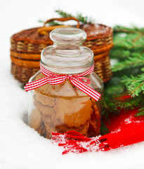 Christmas still life with a Christmas cookies