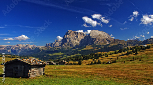 Plexiglas Alpinisme Almwiese