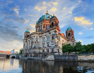 sunset at Berlin Cathedral, Germany