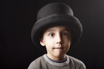 Boy with top hat