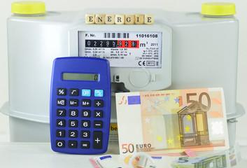 Energiekosten Gaszähler