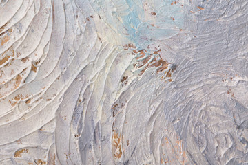 Abstract painting of brush strokes.
