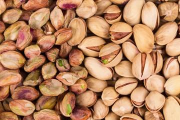 Close up of pistachios. Macro.