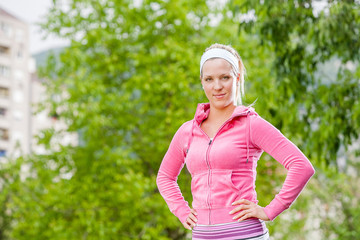 Fitness Woman ready to run
