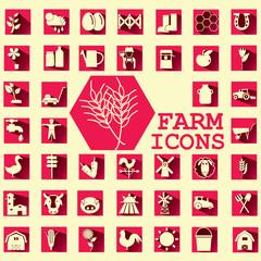 soft yellow farm icons