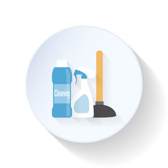 Cleaning accessories flat icon