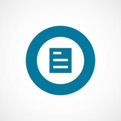 list bold blue border circle icon.