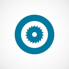 industrial saw bold blue border circle icon.