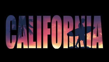 Vintage Filtered California Postcard