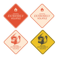 warning and danger signs collection eps8