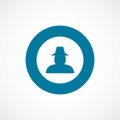 detective bold blue border circle icon.