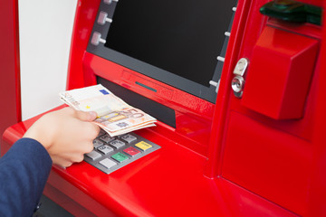 Taking money out of ATM
