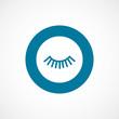 Постер, плакат: eyelash bold blue border circle icon