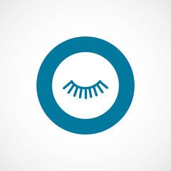 eyelash bold blue border circle icon.