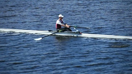 rowing slow motion