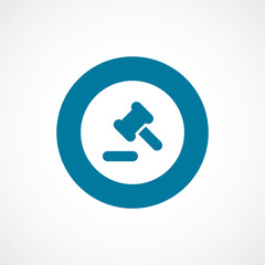 court law bold blue border circle icon.
