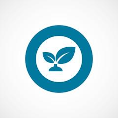 plant bold blue border circle icon.
