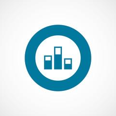 levels bold blue border circle icon.
