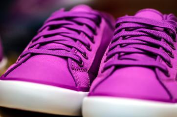 purple sneaker shoe