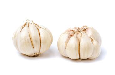 garlic isolated on white background