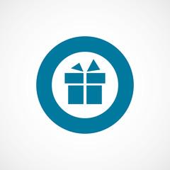 gift bold blue border circle icon.