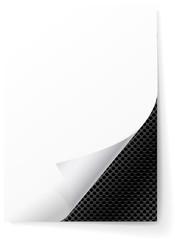 Metal grid under a sheet of paper.