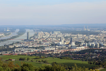 Aerial View of Vienna from Kahlenberg