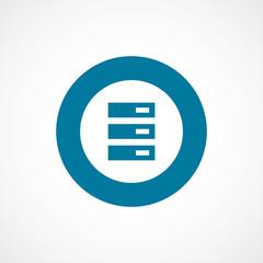 server bold blue border circle icon.